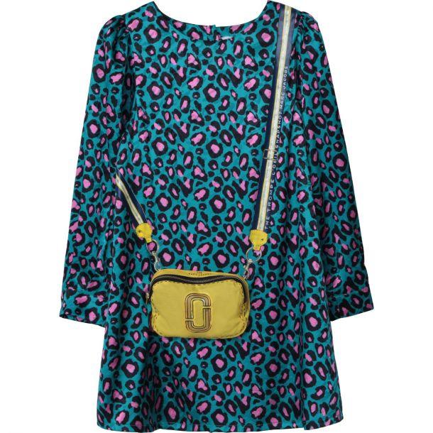 Girls Satin Print Dress