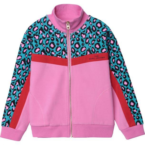 Girls Pink & Print Zip Up