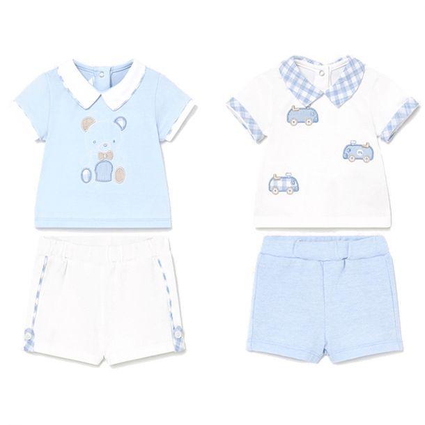 Baby Boys 2 Pack Short Sets