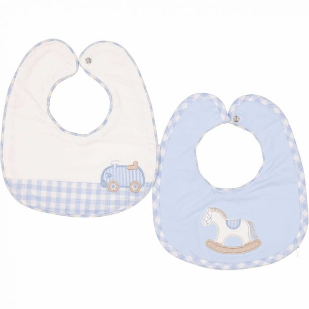 Baby Boys Pack Of Two Bibs