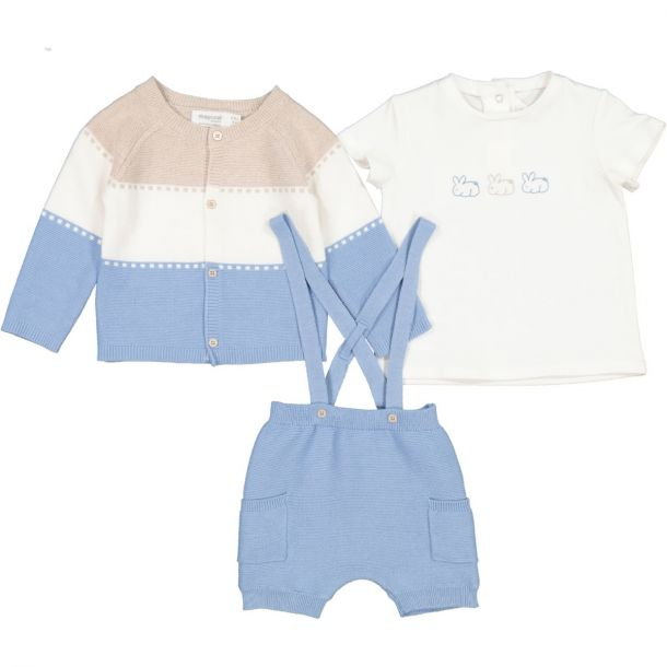Baby Boys Knitted Short Set