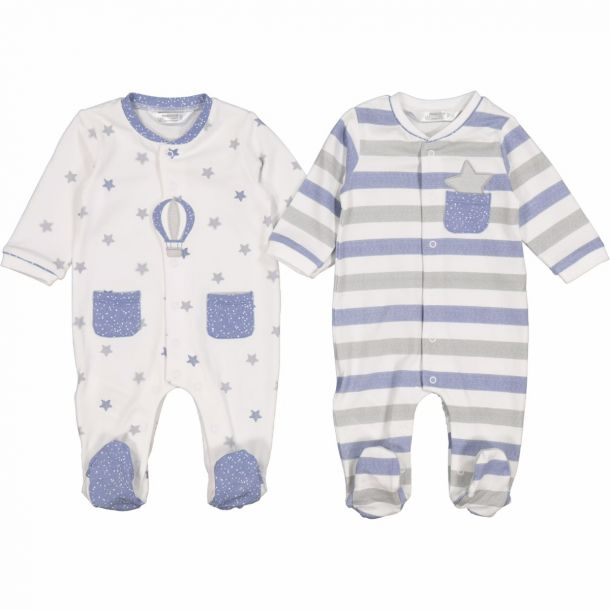 Baby Boys Set Of Two Rompers