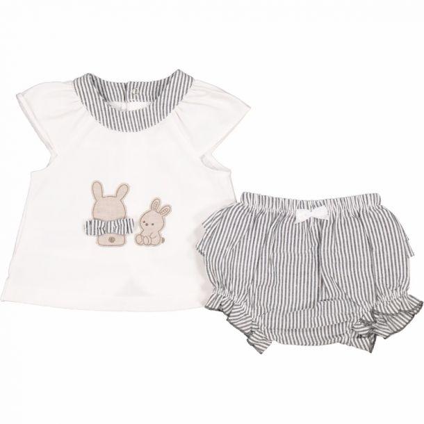 Baby Girls Bunny Short Set