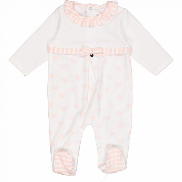Baby Girls Pink Hearts Romper