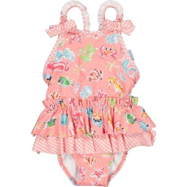 Girls Pink Sea Life Swimsuit