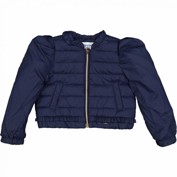 Girls Navy Qulted Jacket