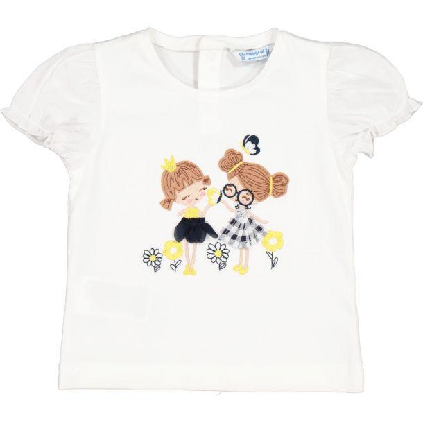 Girls Cotton Printed T-shirt