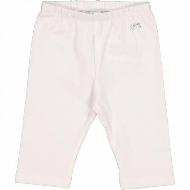 Baby Girls White Cropped Leggings