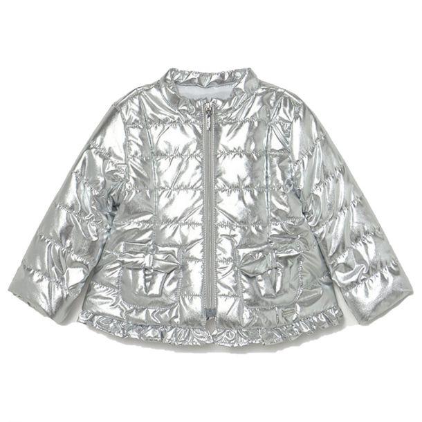 Girls Silver Padded Jacket