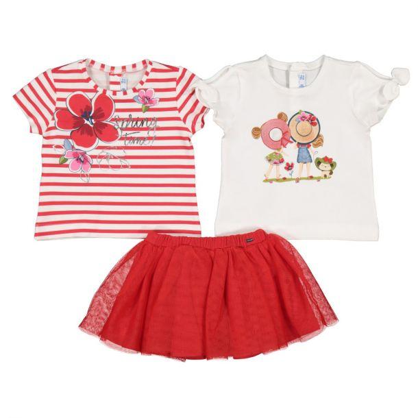 Girls T-shirts & Skirt Set