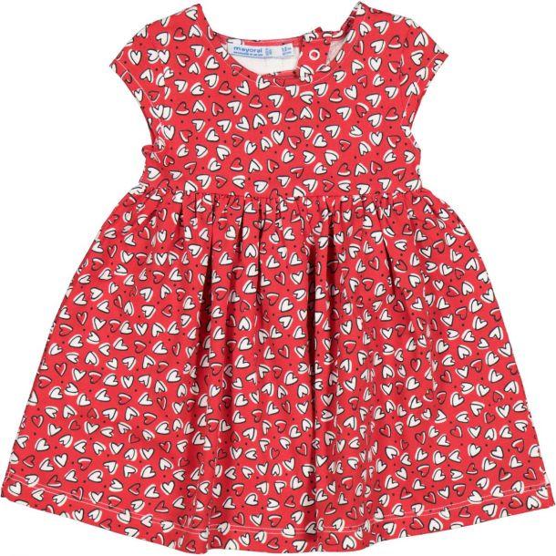 Girls Red & White Hearts Dress