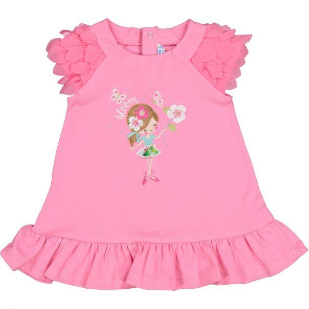 Girls Pink Jersey Dress