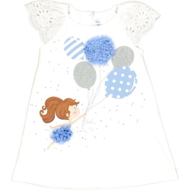 Girls Balloon Jersey Dress