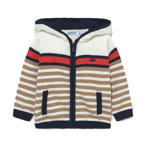 Boys Stripe Cotton Zip Up