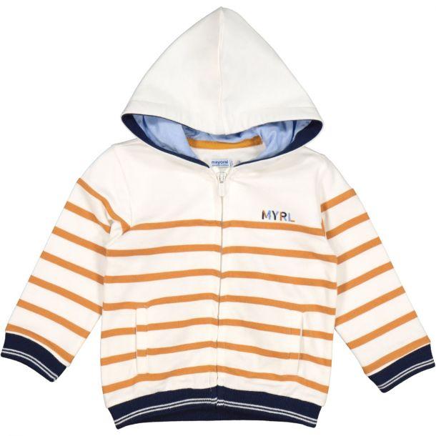 Boys Stripe Hooded Zip Up