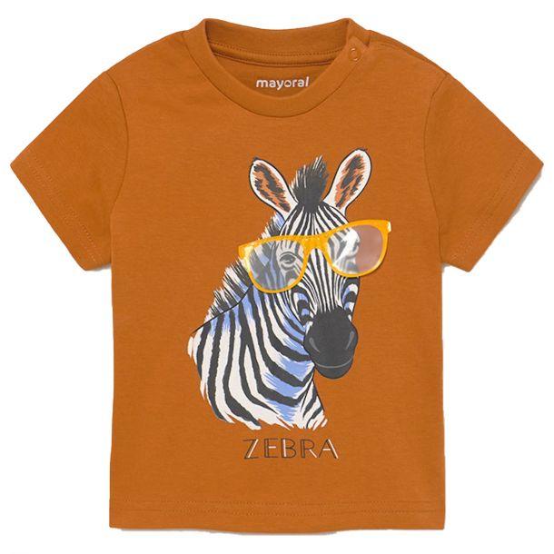 Boys Orange Zebra T-shirt