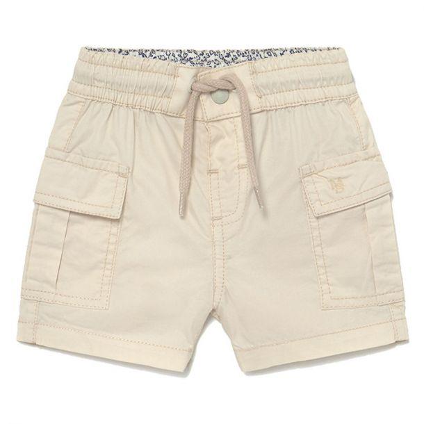 Boys Beige Cargo Shorts