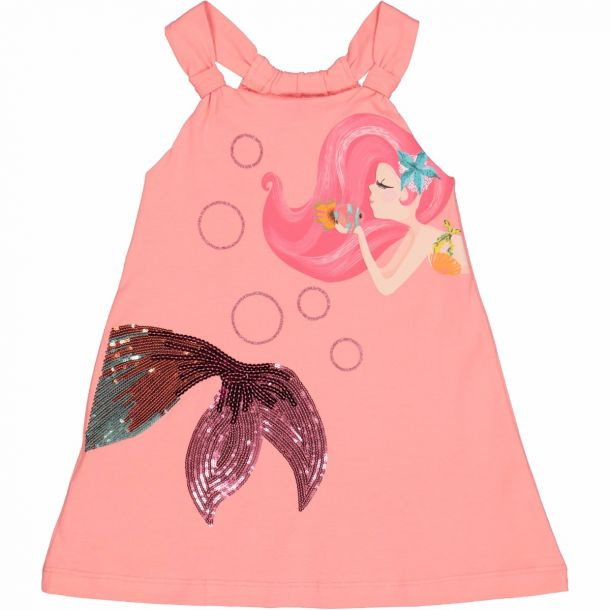 Girls Pink Mermaid Dress