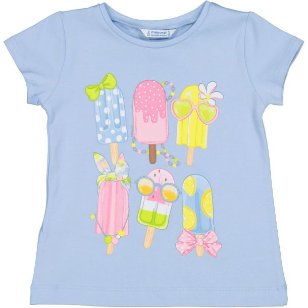 Girls Blue Ice Lolly T-shirt