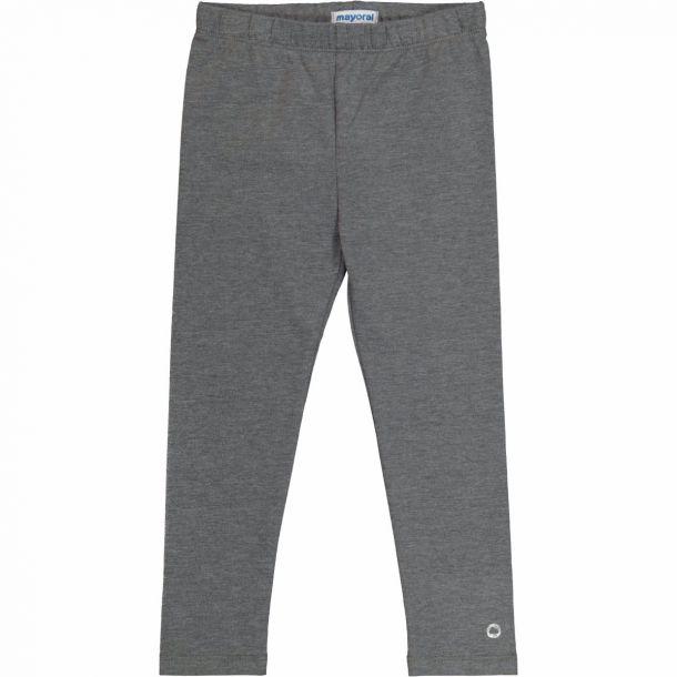 Girls Grey Jersey Leggings