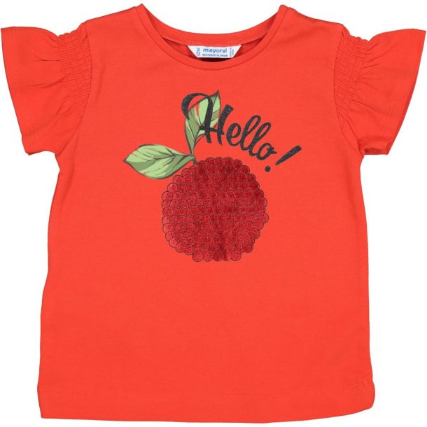 Girls Red Apple T-shirt