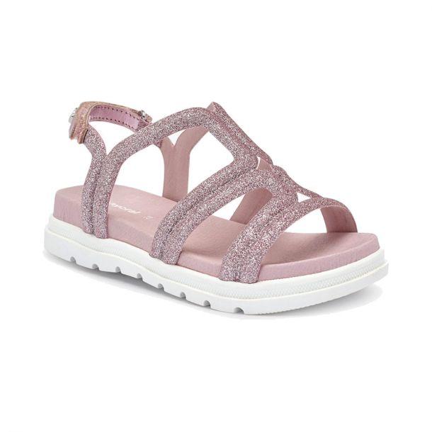 Girls Pink Glittery Sandals
