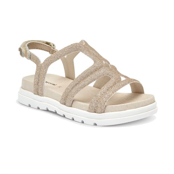 Girls Gold Glittery Sandals