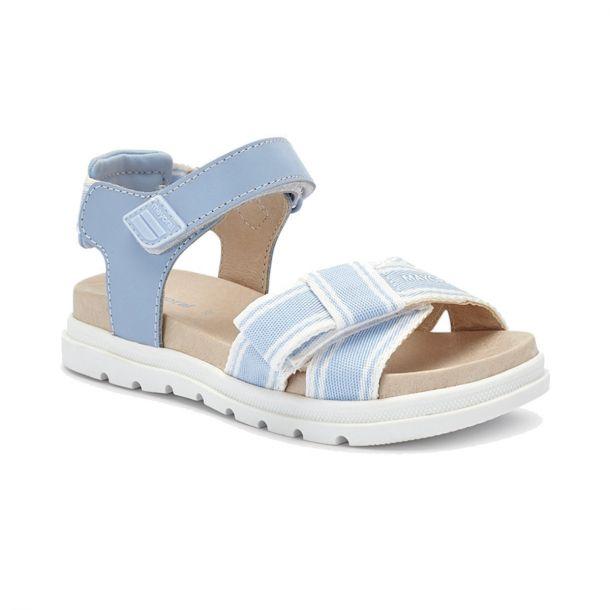 Girls Blue Bow Sandals