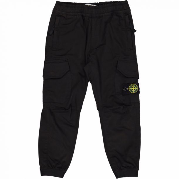 Boys Black Cargo Trousers