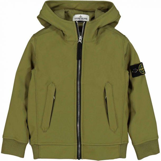 Boys Khaki Hooded Jacket