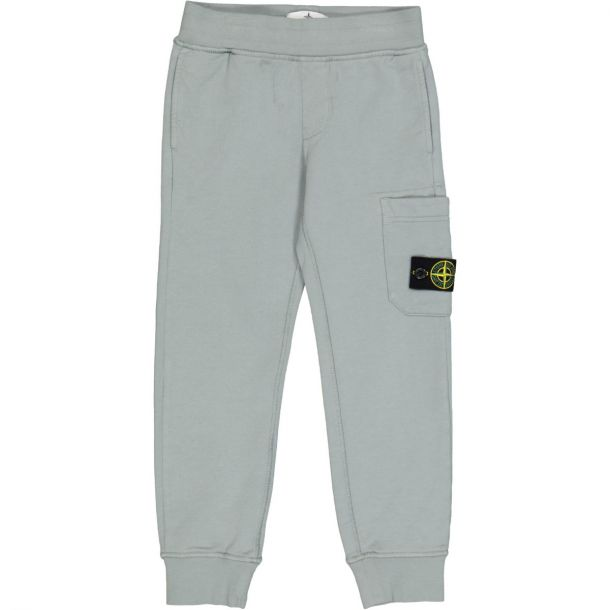 Boys Grey Jersey Joggers with Badge