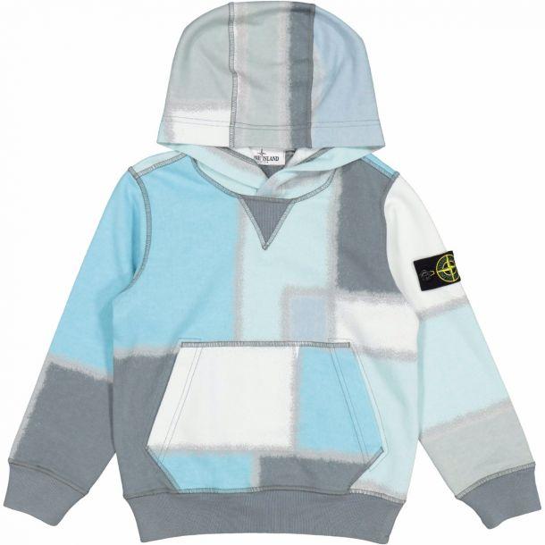 Boys Colour Block Hooded Sweat