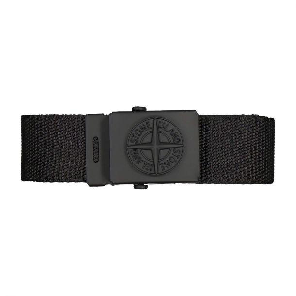 Boys Black Woven Belt