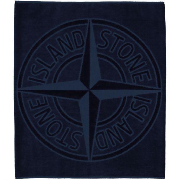 Boys Navy Branded Towel