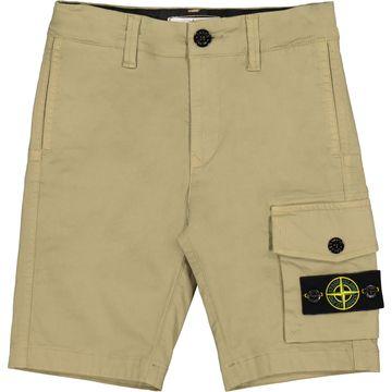 Boys Beige Cotton Shorts