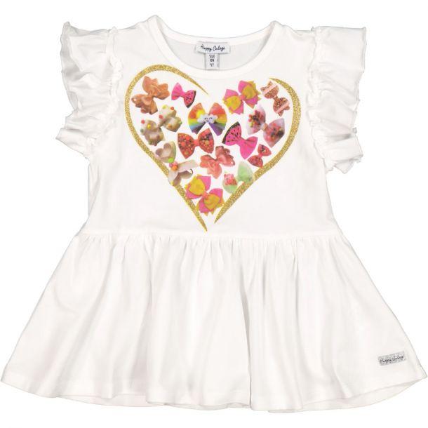 Girls Bw Heart Tunic Top