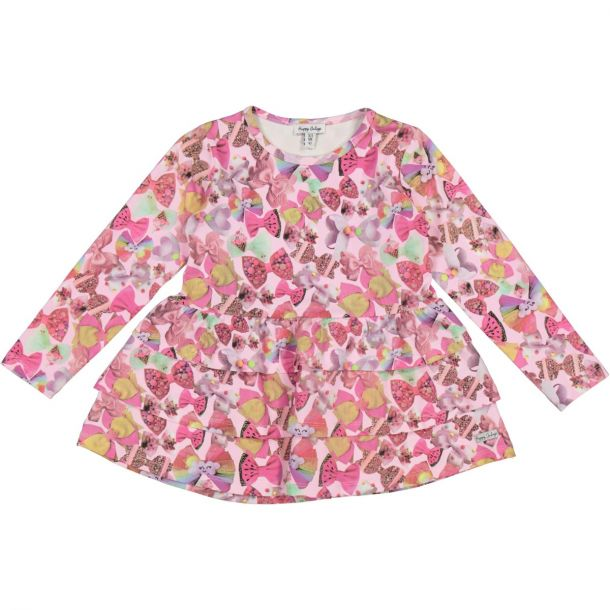 Girls Bow Jersey Tunic Top