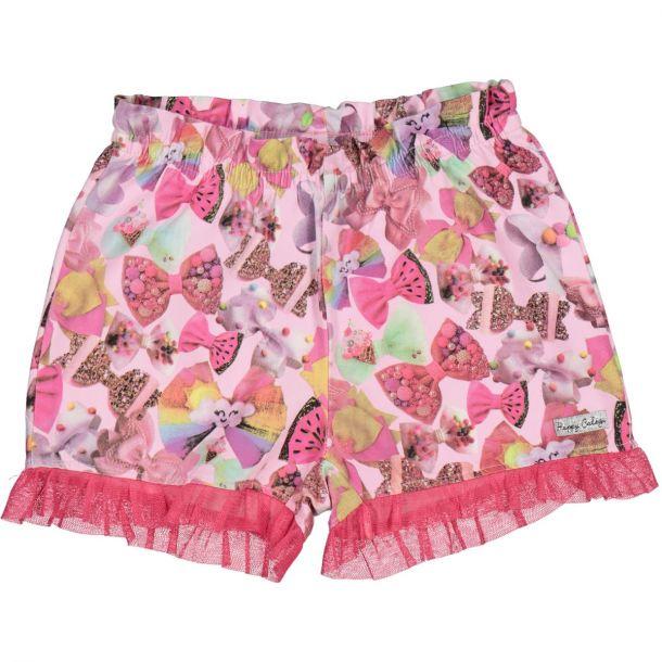 Girls Bow Print Shorts