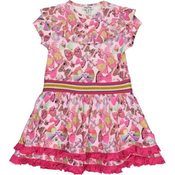 Girls Bow Print Dress