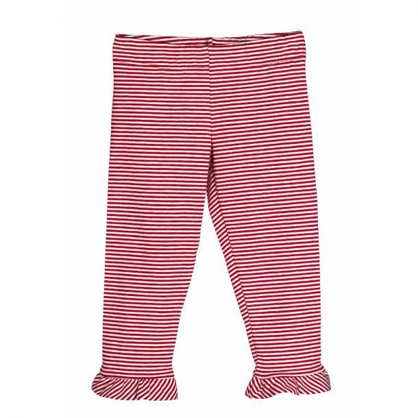 Girls Red Stripe Leggings