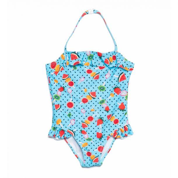 Girls Fruit Print Swimsuit