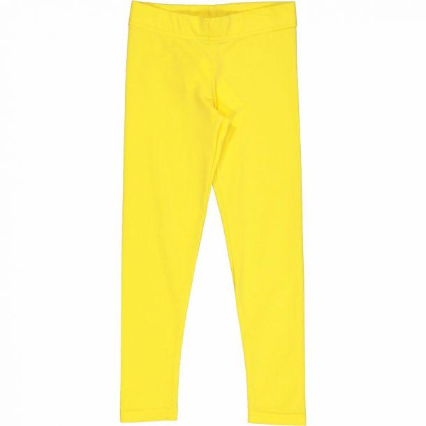 Girls Yellow Crop Leggings