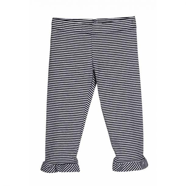 Girls Navy Stripe Leggings
