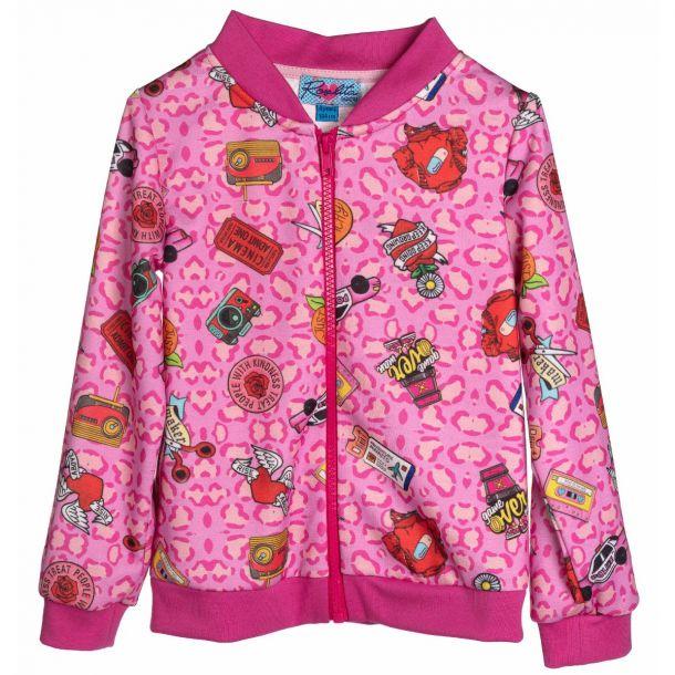 Girls Standish Pink Zip Up