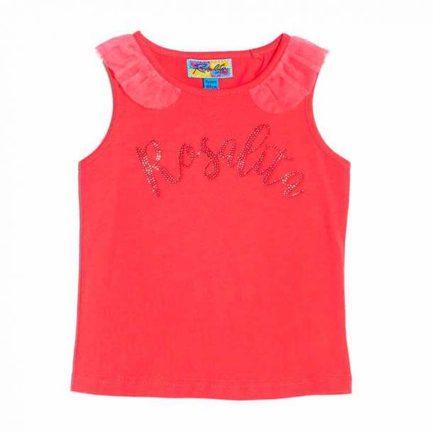 Girls Pink Rosalita Top