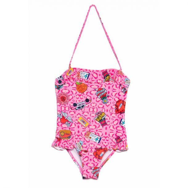 Girls Standish Pink Swimsuit