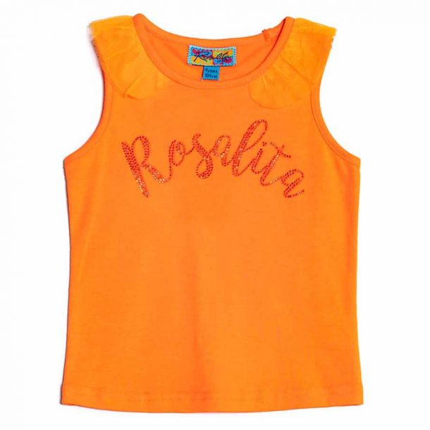 Girls Rosalita Orange Top