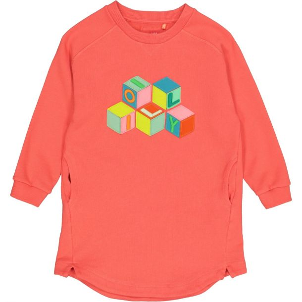 Girls Hope Orange Sweat Dress