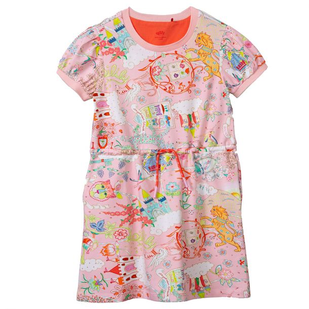 Girls Taira Pink Jersey Dress