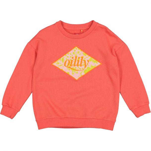 Girls Orange Heritage Logo Sweat